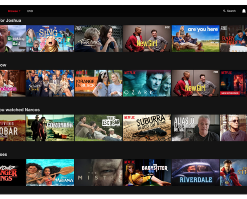 Screenshot of Netflix Personalized Landing Page